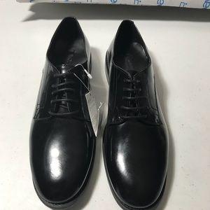 New Zara woman's black leather oxford size 7.5